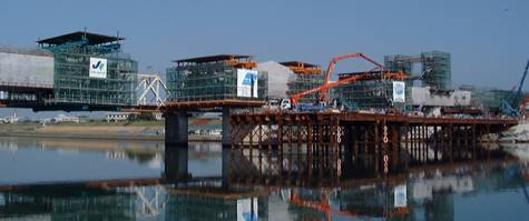 川内川橋りょう 4径間連続斜版橋(片持ち架設工法)